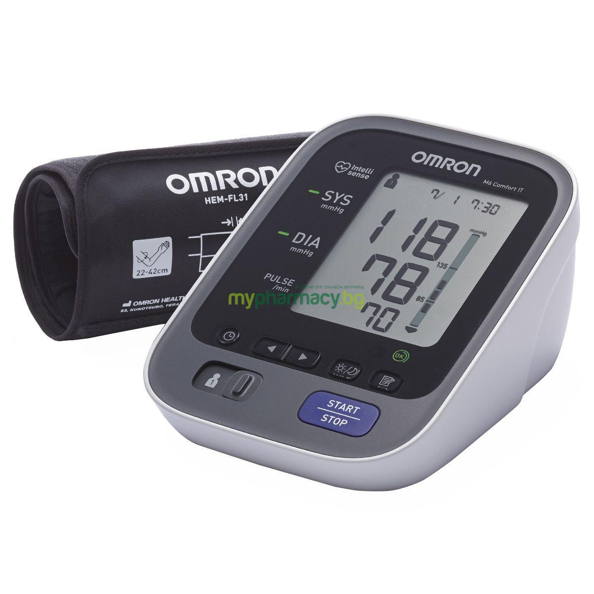 ОМРОН М6 КОМФОРТ апарат за измерване на кръвното налягане